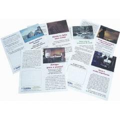 Folhetos para evangelismo - Duplos pacote misto com 1000 unidades