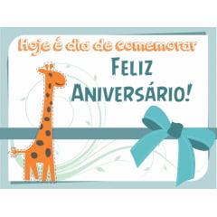 .CARTÃO DE ANIVERSÁRIO INFANTIL com 25 unidades - COD KIDS11