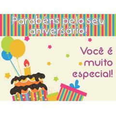 CARTÃO DE ANIVERSÁRIO INFANTIL com 25 unidades - COD KIDS014