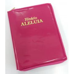 HINÁRIO ALELUIA CAPA ROSA COM ZÍPER