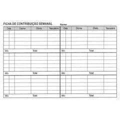 ENVELOPE DE DÍZIMO SEMANAL C/ LOGO IPRB C/ 50 UNID - COD 00449