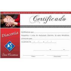 Certificado de Conclusão DIACONIA c/ 10 unid.