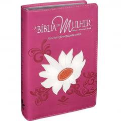 BIBLIA DA MULHER NTLH MARGARIDA COD 1817