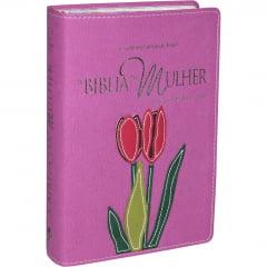 BIBLIA DA MULHER CP SINT ORQUIDEA FLOR COD 1544