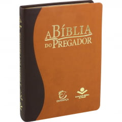 A BÍBLIA DO PREGADOR CAPA MARRON CLARO/ESCURO