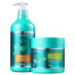 Lowell Cacho Magico Máscara 450gr + Shampoo Magic Poo 500ml