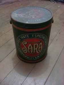 Lata de chá altamente decorativa, produto importado!