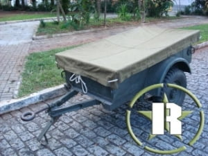 Lona utilizada carreta bantam e M100 - Sob encomenda!