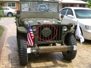 Placa de ponte jeep MB/GPW entre outros e caminhões militares