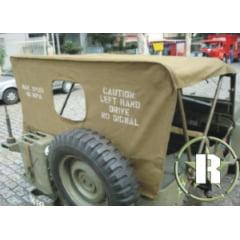 Capota em lona para todos os jeeps aberta