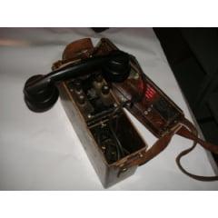 Telefone usado pelo exército americano carcaça de baquelite fabricação ericsson - decada de 60