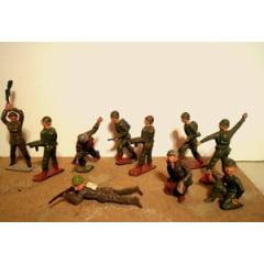 10 soldadinhos de chumbo de época-importado!