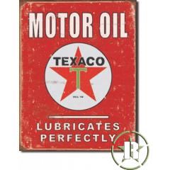 Placa Texaco americana - 40cm x 30cm - selo holográfico made USA