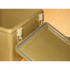 Caixa primeiros socorros em PVC produto original década 70 estanque!