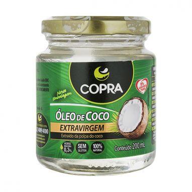 OLEO DE COCO EXTRAVIRGEM 200ML COPRA