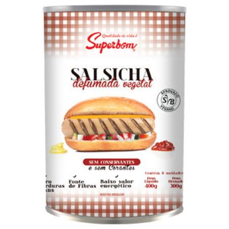 SALSICHA VEGETAL DEFUMADA 400G SUPERBOM