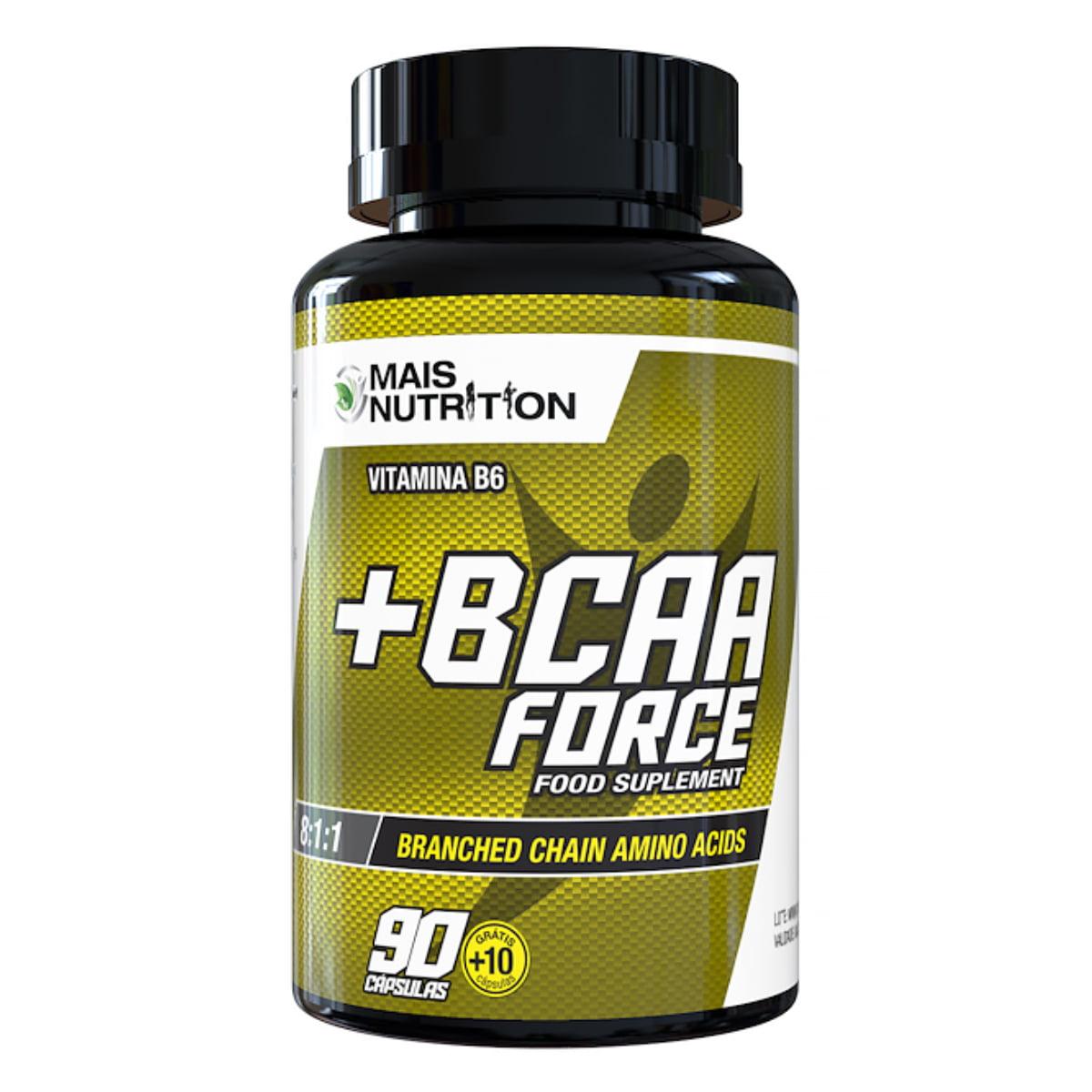 180 BCAA Force 100 capsulas Mais Nutrition
