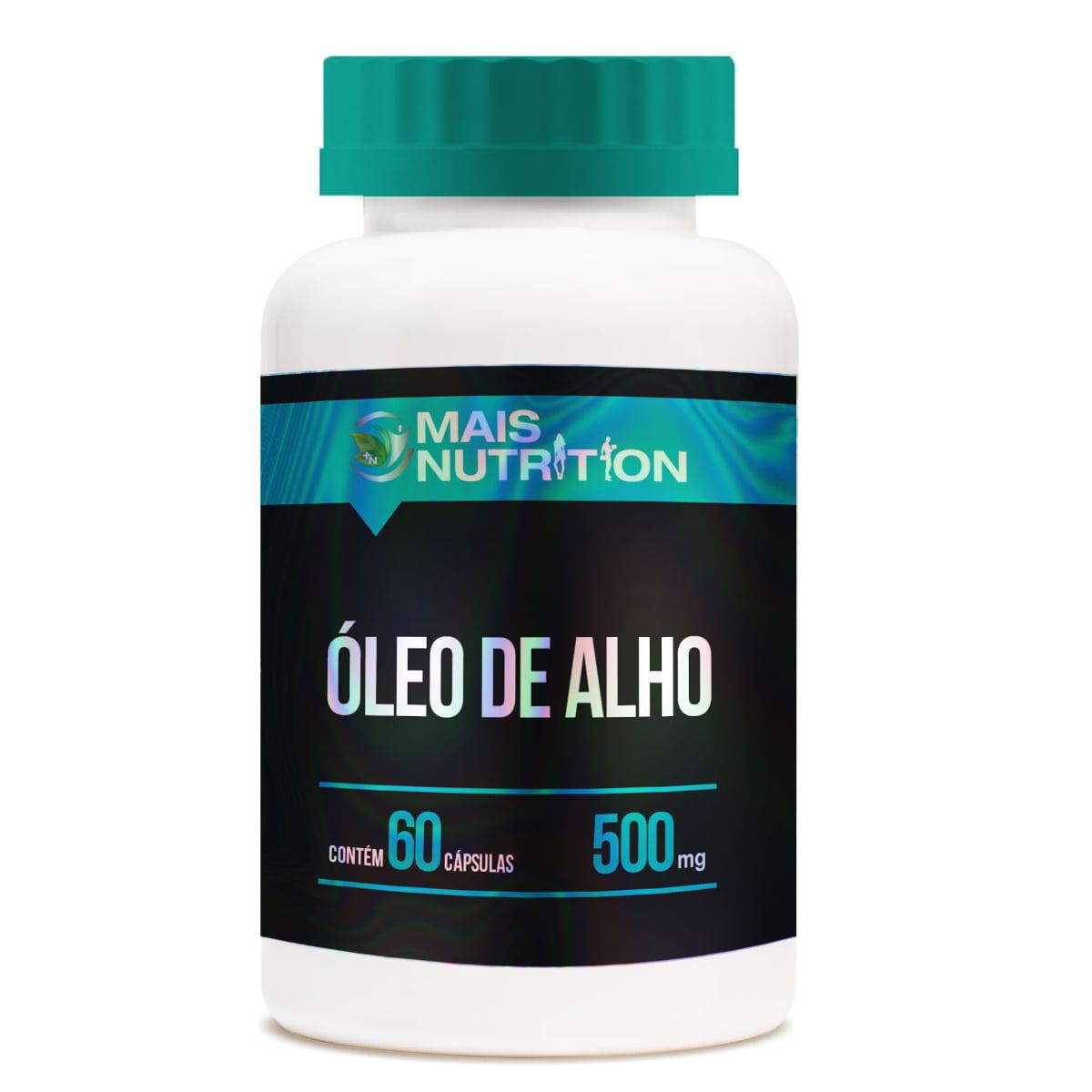 Oleo de Alho 500mg 60 capsulas Mais Nutrition