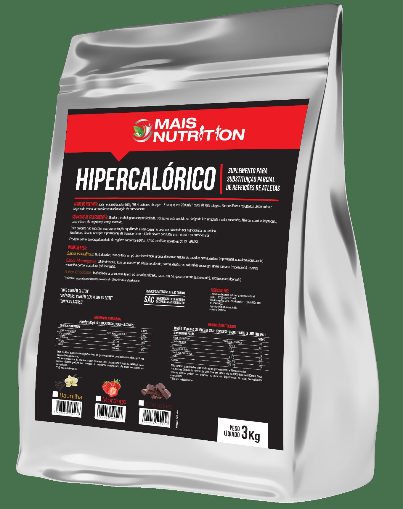 Hipercalórico 3kg Mega Mass - Sabor Chocolate
