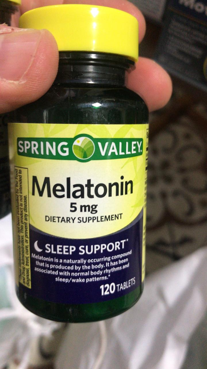 Melatonina 5mg 120 tabletes Spring Valley