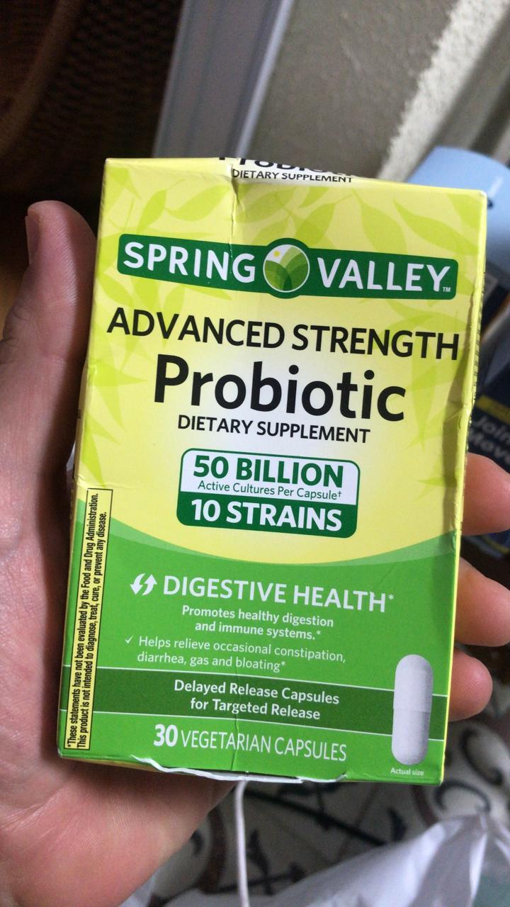 Probiotico Probiotic 30 capsulas vegetais Spring Valley