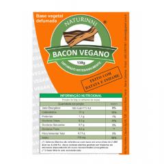 Bacon Vegano Defumado 130 gramas 130g Naturinni