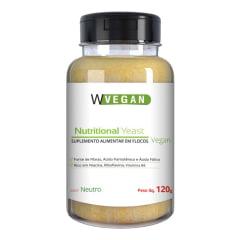 Nutritional Yeast Flocos 120g Levedura Nutricional Sabores Wvegan