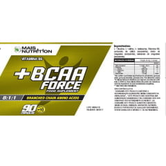 2 unidades de BCAA Force 8:1:1 100 capsulas Mais Nutrition