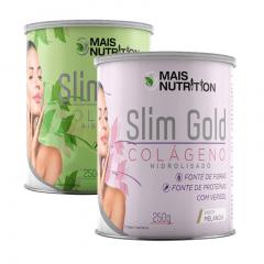 7 Slim Gold Limão 250g + 3 Slim Gold Melancia 250g