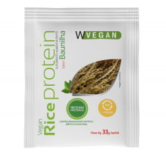 Sache Rice Protein 33 gramas WVegan Sabores Baunilha , Chocolate e Neutro Sem Sabor Proteina de Arroz