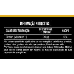Biotina 500 mg 60 cápsulas Mais Nutrition