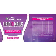Cabelos e Unhas Hair & Nails 500mg 60 capsulas - Mais Nutrition