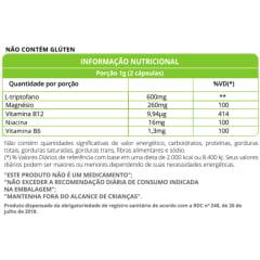 L – Triptofano c/ Vit B12, B6, Magnesio e Niacina  500mg 60 cápsulas WVegan