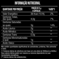 Oleo de Coco 1000mg 60 capsulas Mais Nutrition