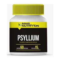 Psyllium Psillium 670 mg 60 capsulas – Mais Nutrition