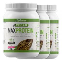 5 Proteina Vegetal 900g - Chocolate, morango, baunilha ou neutra