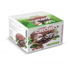 Choko Vegan 39% - Chocolate Vegano 12 barras de 20g cada