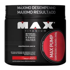 Max Pump 240g - Fruit Punch