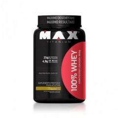 Whey 100% 900 gramas 900g sabor Baunilha Max Titanium