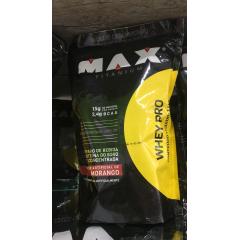 Whey Pro 1,5Kg Sabores Baunilha e Morango Validade - 15/02/18 - Max Titanium