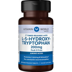 5 HTP – Hidroxi Triptofano 200mg 30 tabletes – Vitamin World