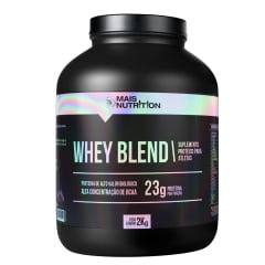 Whey Blend 2kg Sabores Chocolate , Morango e Baunilha Mais Nutrition