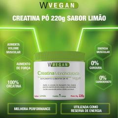 Creatina 220g 220 gramas Sabores Limao e Uva WVegan