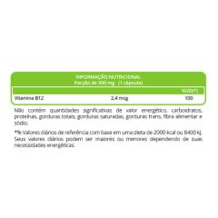 Vitamina B12 Cianocobalamina 2,4mcg 30 capsulas WVegan
