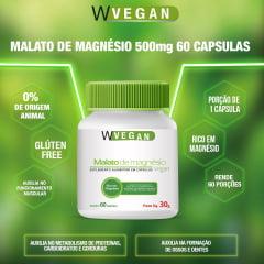 Malato de Magnésio 500mg 60 capsulas WVegan