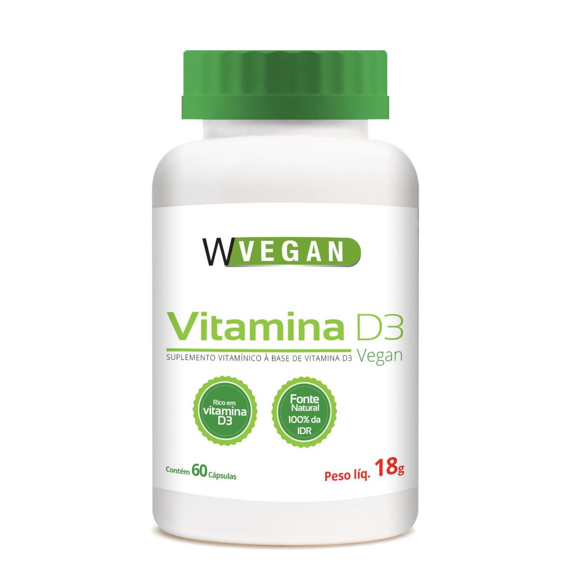 Vitamina D3 5mcg 60 capsulas WVegan