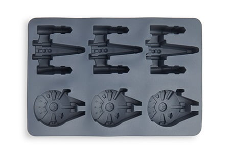 Forma de Gelo e Chocolate Star Wars X-Wing / Millenium Falcon