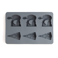Forma de Gelo e Chocolate Star Wars - AT-AT / Star Destroyer