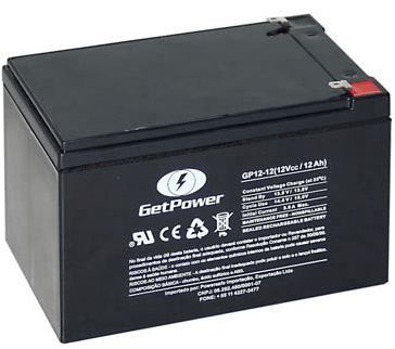 BATERIA GET POWER VRLA 12V 12AH - GP12-12