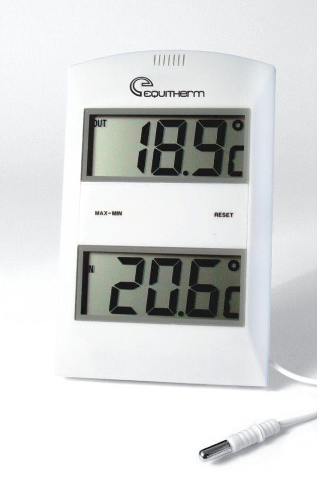 Termômetro Digital de Máxima/Mínima Para Medições em Temperaturas Internas e Externas